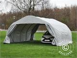 Portable double garage 5.4x6x2.9 m PVC, Grey - 2