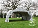 Portable double garage 5.4x6x2.9 m PVC, Grey - 8