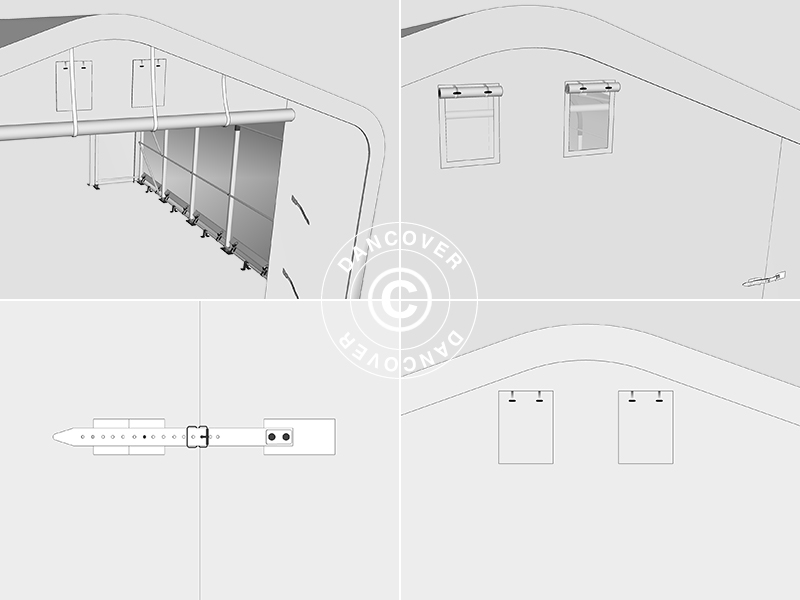 Capannone Tenda Pro 6x18x3 7m Pvc Grigio Dancovershop It