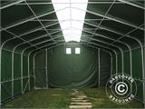 Storage shelter PRO 6x18x3.7 m PVC w/ skylight, Green - 1