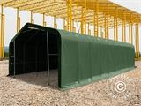 Storage shelter PRO 6x18x3.7 m PVC w/ skylight, Green - 10