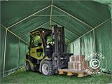 Storage shelter PRO 4x6x2x3.1 m, PVC, Green - 5