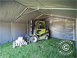 Storage shelter PRO 5x6x2x3.39 m, PVC, Grey - 9