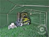 Storage shelter PRO 5x10x2x3.39 m, PVC, Green - 4