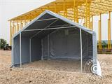 Storage shelter PRO 5x4x2x3.39 m, PVC, Grey - 8