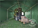 Storage shelter PRO 4x8x2.5x3.6 m, PVC, Green - 10