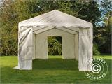 Opslagtent Basic 2-in-1, 4x6m PE, Wit - 2