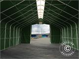 Storage shelter PRO 8x12x5.2 m PVC w/ skylight, Green - 5