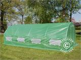 Polytunnel Greenhouse 3x8x2m, Green - 1