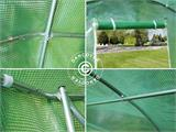 Polytunnel Greenhouse 3x8x2m, Green - 10