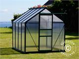 Greenhouse Polycarbonate 3.64m², 1.9x1.92x2.01 m, Green - 3