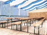 Beer Table Set PRO 180x60x78 cm, Pinewood - 3