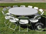Round folding table Ø 183 cm, Light grey (1 pcs.) - 8