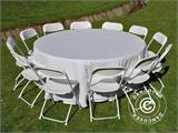 Round folding table Ø 183 cm, Light grey (1 pcs.) - 10