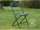 Folding Chair, black 44x44x80 cm, 8 pcs. - 4