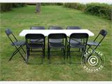 Folding Chair, black 44x44x80 cm, 8 pcs. - 5