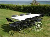 Folding Chair, black 44x44x80 cm, 8 pcs. - 6