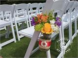 Padded Folding Chairs 44x46x77 cm, White, 4 pcs. - 4