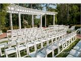 Padded Folding Chairs white 44x46x77 cm, 8 pcs. - 5