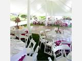 Padded Folding Chairs white 44x46x77 cm, 8 pcs. - 16