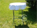Tablecloth Ø80x20cm, White - 1
