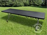 Table pliante 242x76x74cm, Noir (1 pce) - 3