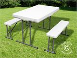 Camping table (113 cm) + 2 folding benches (95 cm) - 1
