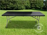 Table pliante 182x74x74cm, Noir (10 pcs) - 2