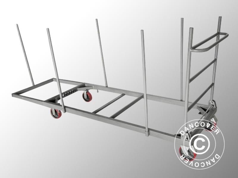 Chariot pour tables extensible gris dancovershop fr for Table extensible 4m