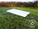 Party package, 1 folding table (153 cm) + 4 chairs, Light grey - 5