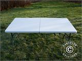 Party package, 1 folding table (153 cm) + 4 chairs, Light grey - 16