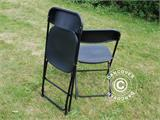 Party package, 1 folding table (182 cm) + 8 chairs, Black - 15