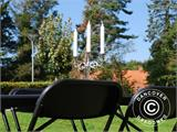 Party package, 1 folding table (242 cm) + 8 chairs, Black - 8