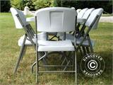 Party package, 1 folding table PRO (182 cm) + 8 chairs, Light grey/White - 3