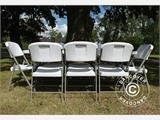 Party package, 1 folding table PRO (182 cm) + 8 chairs, Light grey/White - 4