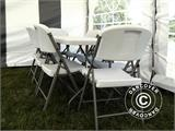 Party package, 1 folding table PRO (182 cm) + 8 chairs, Light grey/White - 8