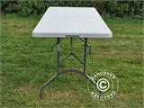 Party package, 1 folding table (182 cm) + 8 chairs & 8 Seat cushions, Light grey/White - 15