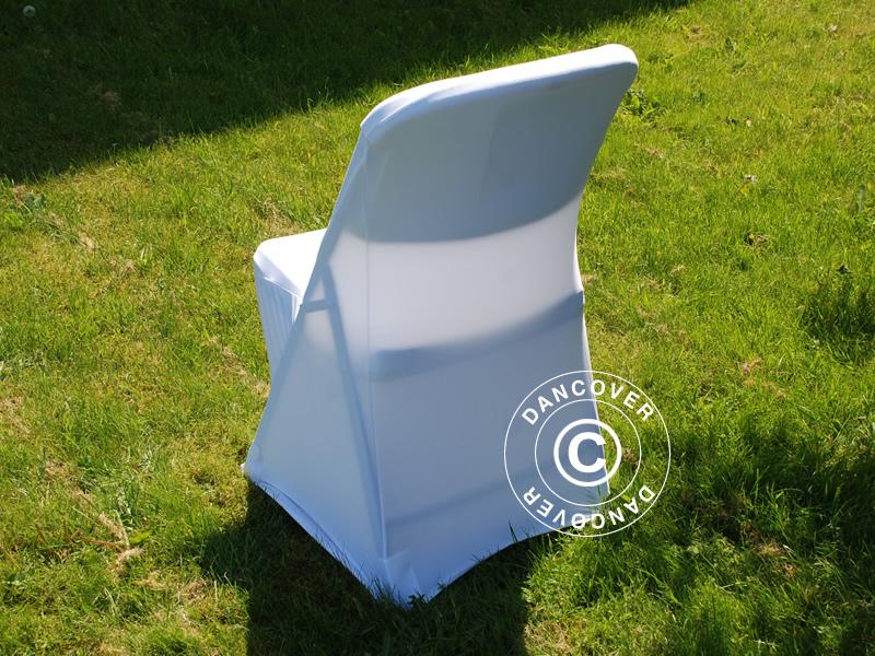 couverture de chaise extensible 48x43x89cm blanc 1 pcs dancovershop fr. Black Bedroom Furniture Sets. Home Design Ideas