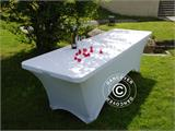Stretch table cover, 183x75x74 cm, White - 4
