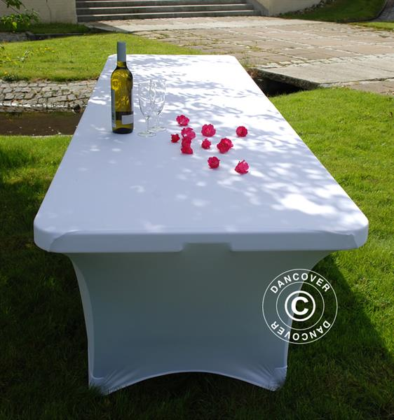 Stretch Table Cover 183x75x74 Cm White Dancovershop Uk