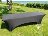 Stretch table Cover, 244x75x74 cm, Black - 1