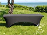 Stretch table Cover, 244x75x74 cm, Black - 2