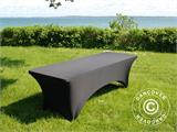 Stretch table Cover, 244x75x74 cm, Black - 3