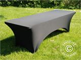 Stretch table Cover, 244x75x74 cm, Black - 5