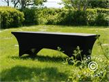 Stretch table Cover, 244x75x74 cm, Black - 6