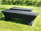 Stretch table Cover, 244x75x74 cm, Black - 13