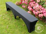 Stretch bench cover 183x28x43 cm, Black - 1