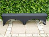 Stretch bench cover 183x28x43 cm, Black - 5