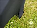 Stretch bench cover 183x28x43 cm, Black - 7