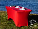 Stretch table cover, 183x75x74 cm, Red - 14